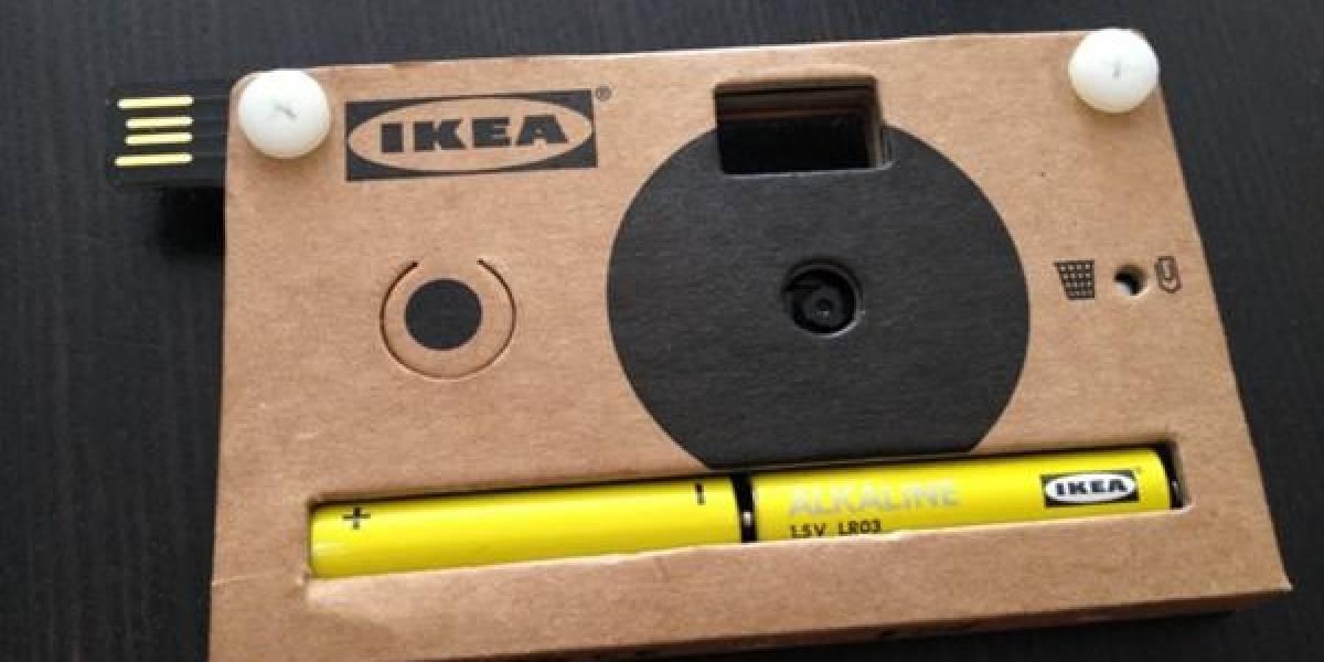 Ikea presentó una cámara fotográfica de cartón que pondrá a la venta