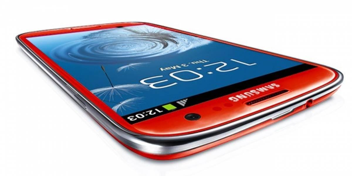 Ni blanco ni azul, un operador tendrá su propio Galaxy S III en rojo
