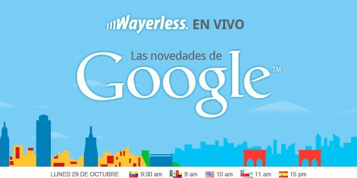 Acompáñanos este 29 de Octubre a conocer lo nuevo de Google