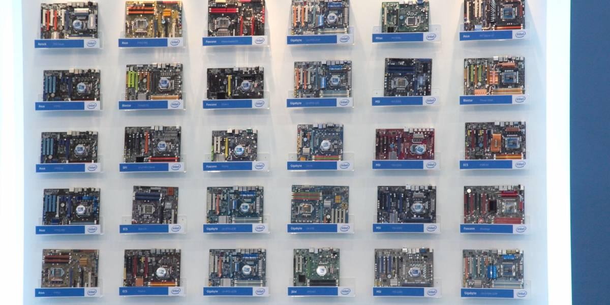 Todas las placas madres P55 fotografiadas