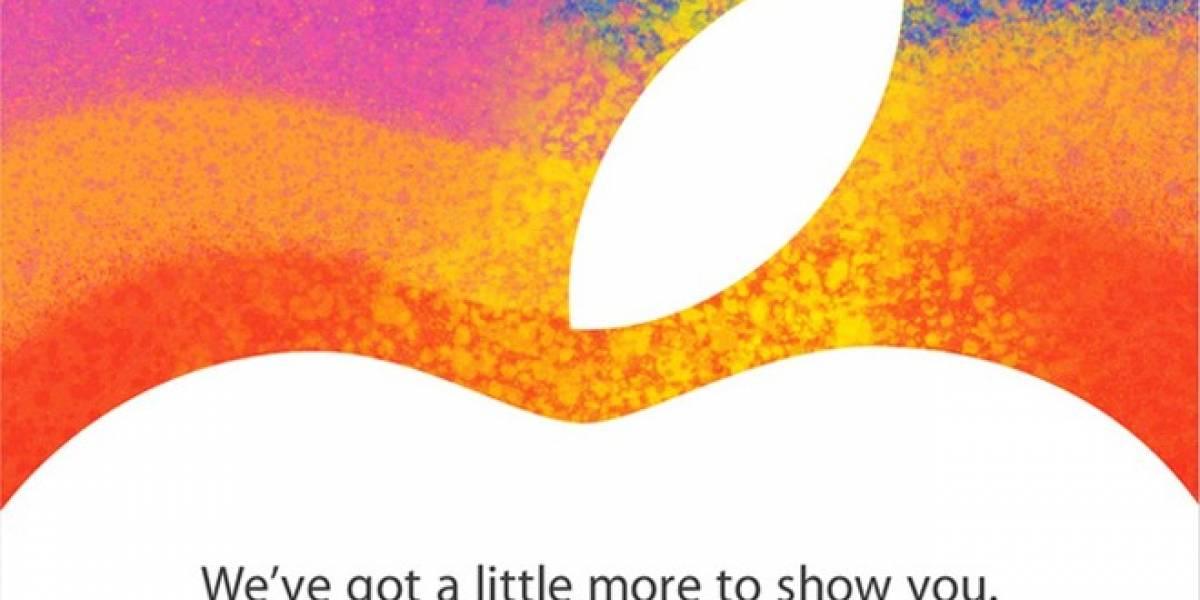 Apple envía invitaciones para un lanzamiento el 23 de Octubre: ¿iPad Mini?