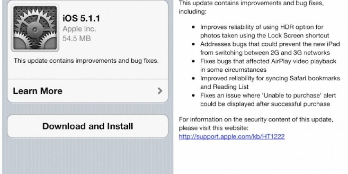 Apple lanza nueva actualización para iOS