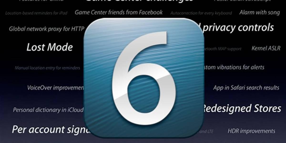 iOS 6 ya está disponible con nuevos mapas, Facebook integrado y Siri en español