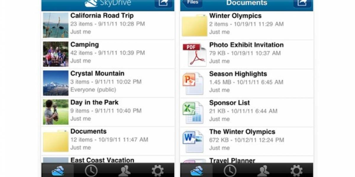 SkyDrive llega en forma de app para iOS
