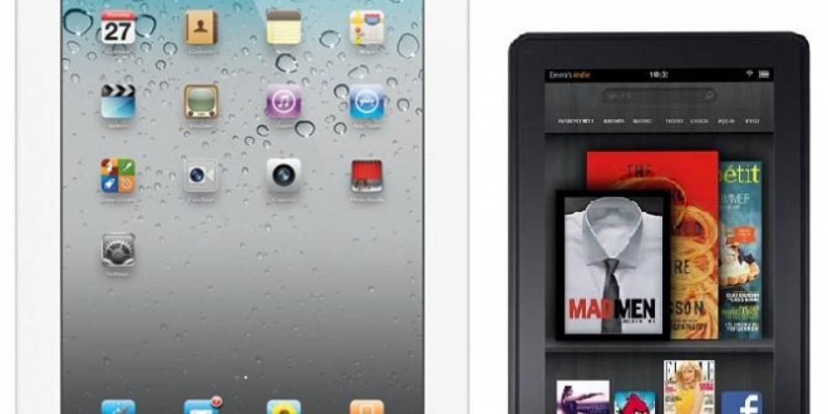 Vídeo comparativo entre la iPad2 y la Kindle Fire