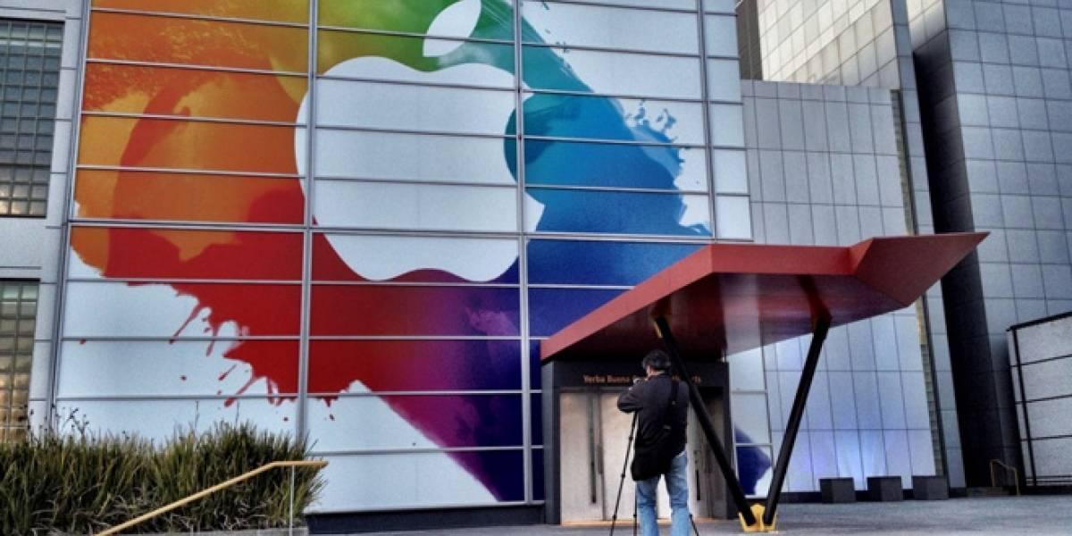 ¿Futurología?: Un colorido logotipo de Apple se presentó durante el lanzamiento del iPad