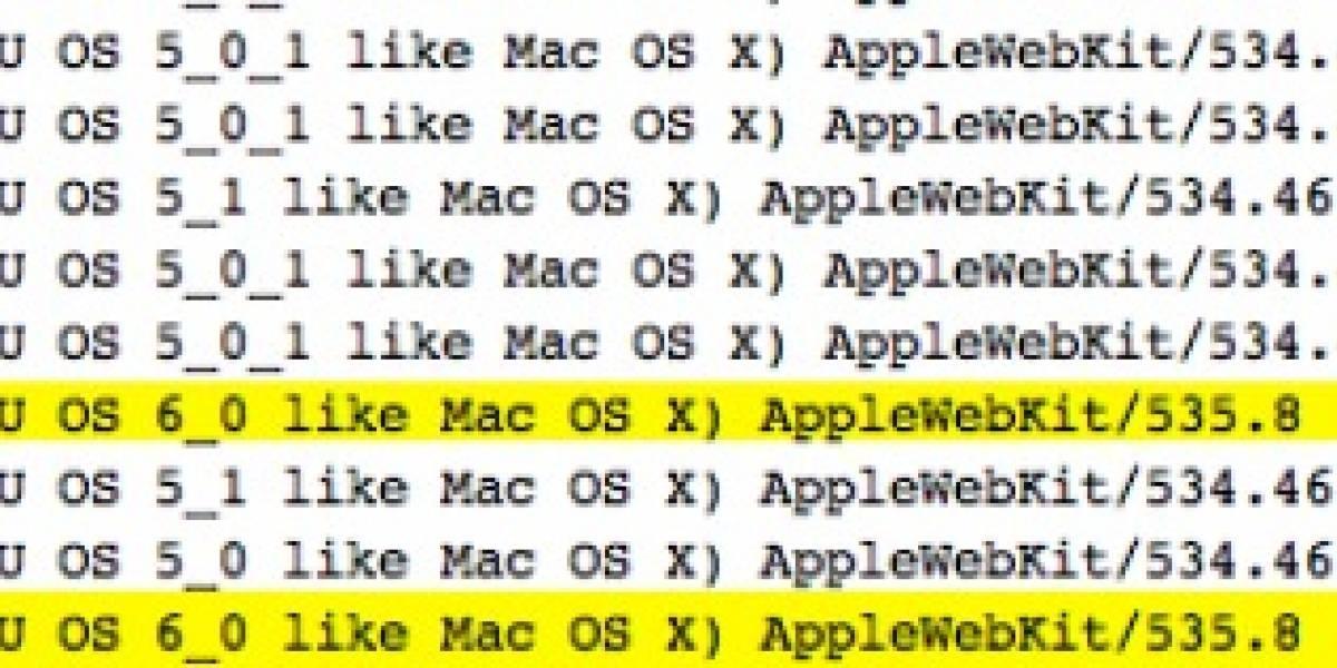 Sitio acusa que ha recibido visitas desde un iPad corriendo iOS 6
