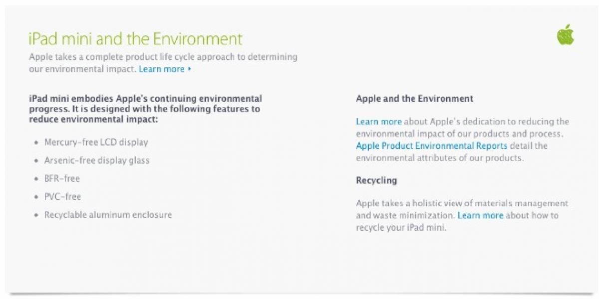 ¿Cómo se porta el nuevo iPad mini con el medio ambiente?