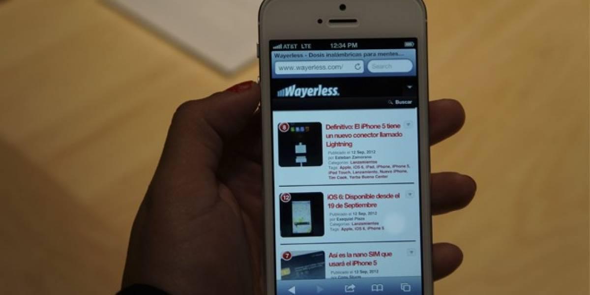 Chile: El iPhone 5 llegará entre finales de noviembre y principios de diciembre