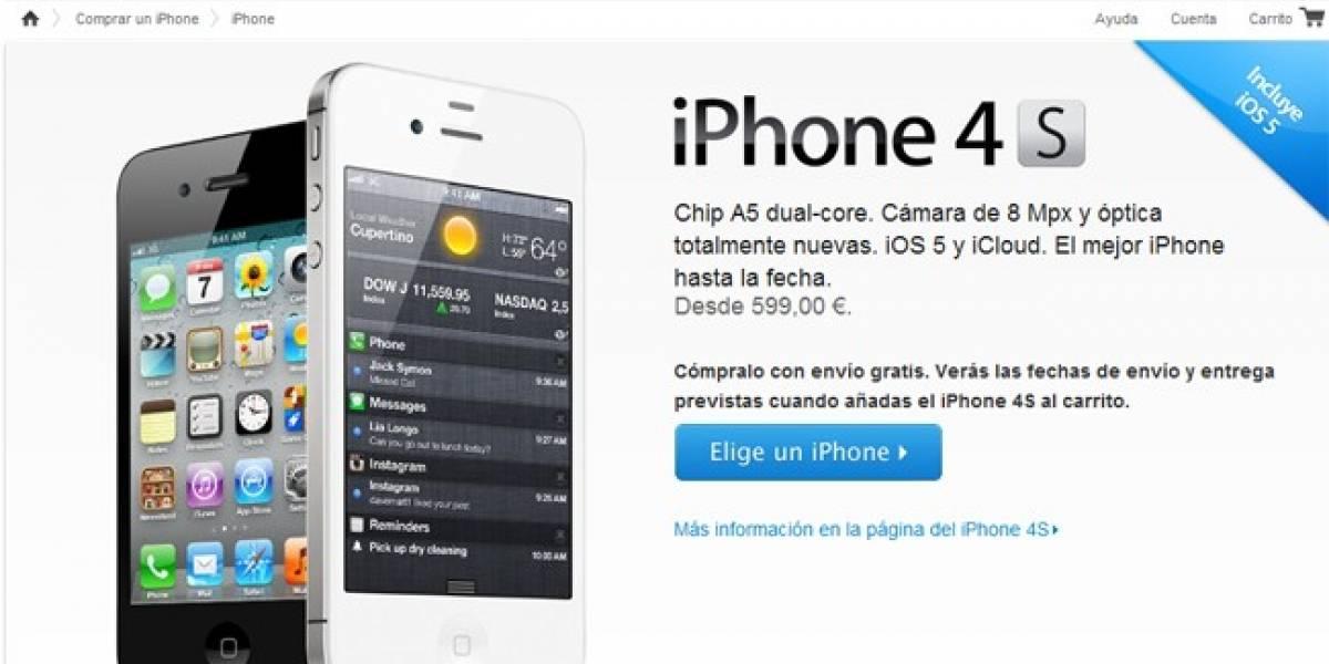 España: El iPhone 4S ya puede reservarse en la web de Apple
