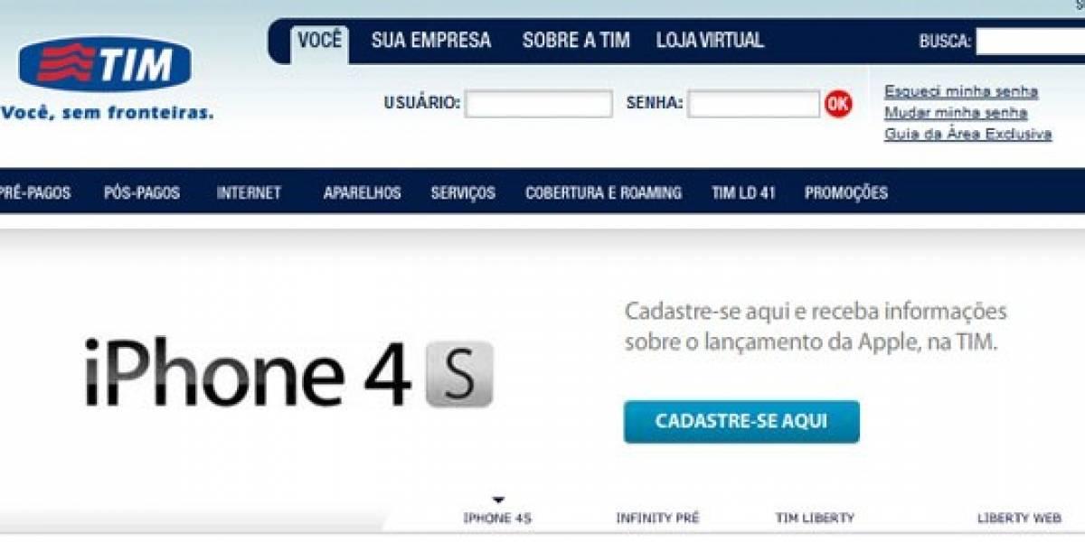 Brasil: TIM anuncia el iPhone 4S en su sitio