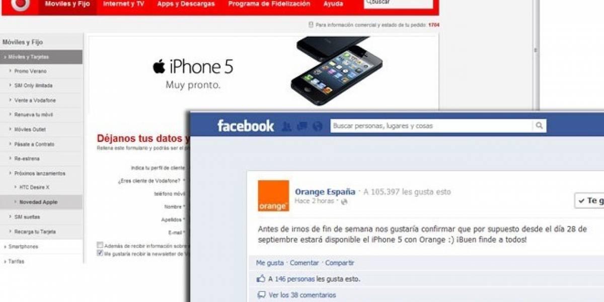 Vodafone y Orange venderán del iPhone 5 en España a partir del 28 de septiembre