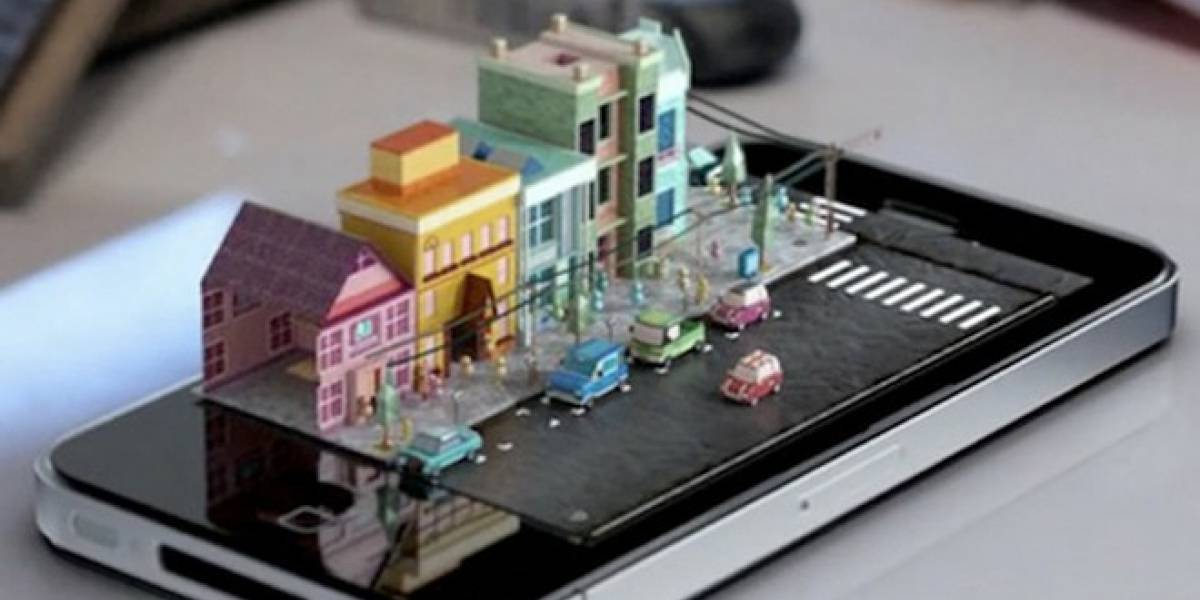 Una mini-ciudad que se sale de un iPhone