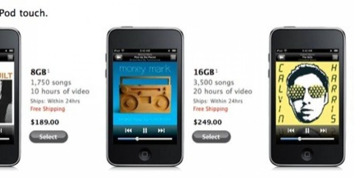 iPods bajan dramáticamente de precio