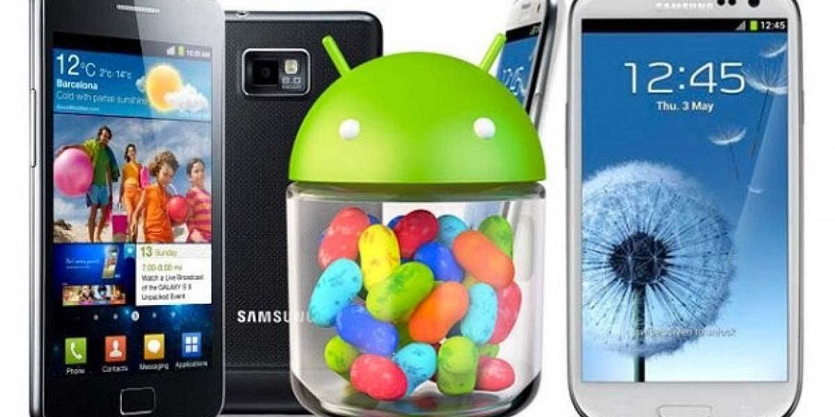 Android Jelly Bean para el Galaxy SIII disponible en Octubre y Galaxy SII en Noviembre