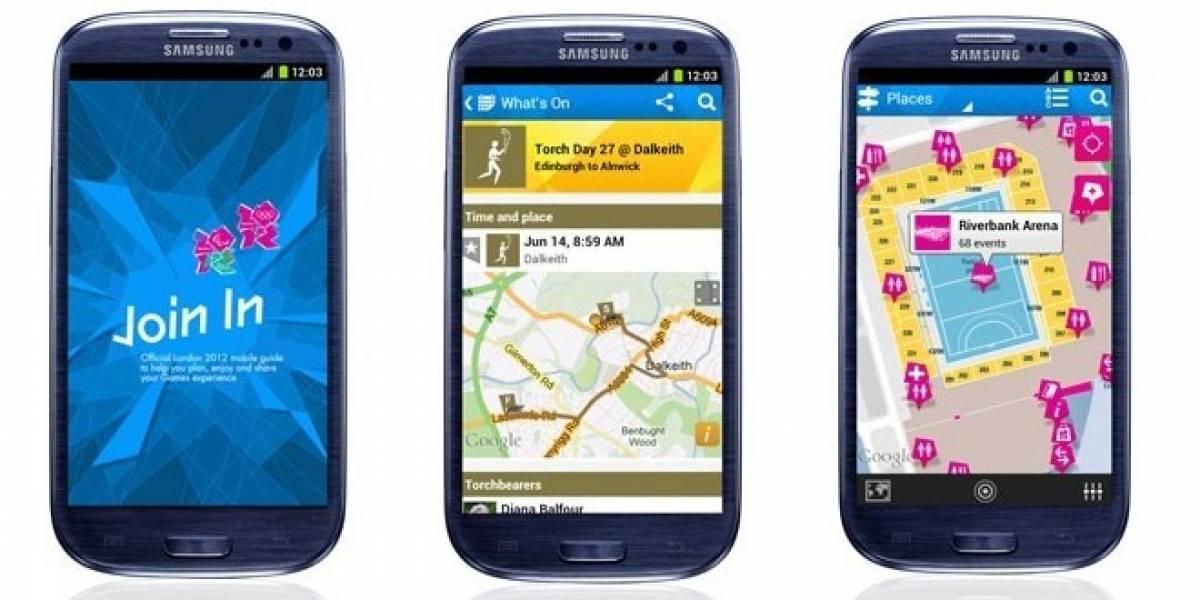 Los Juegos Olímpicos Londres 2012 estrenan aplicación iOS, Android y Blackberry