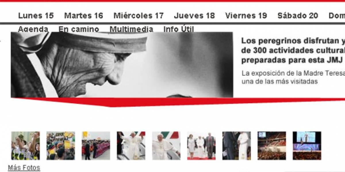 Ataque informático tumbó la web de las JMJ cuando el Papa aterrizaba en Madrid