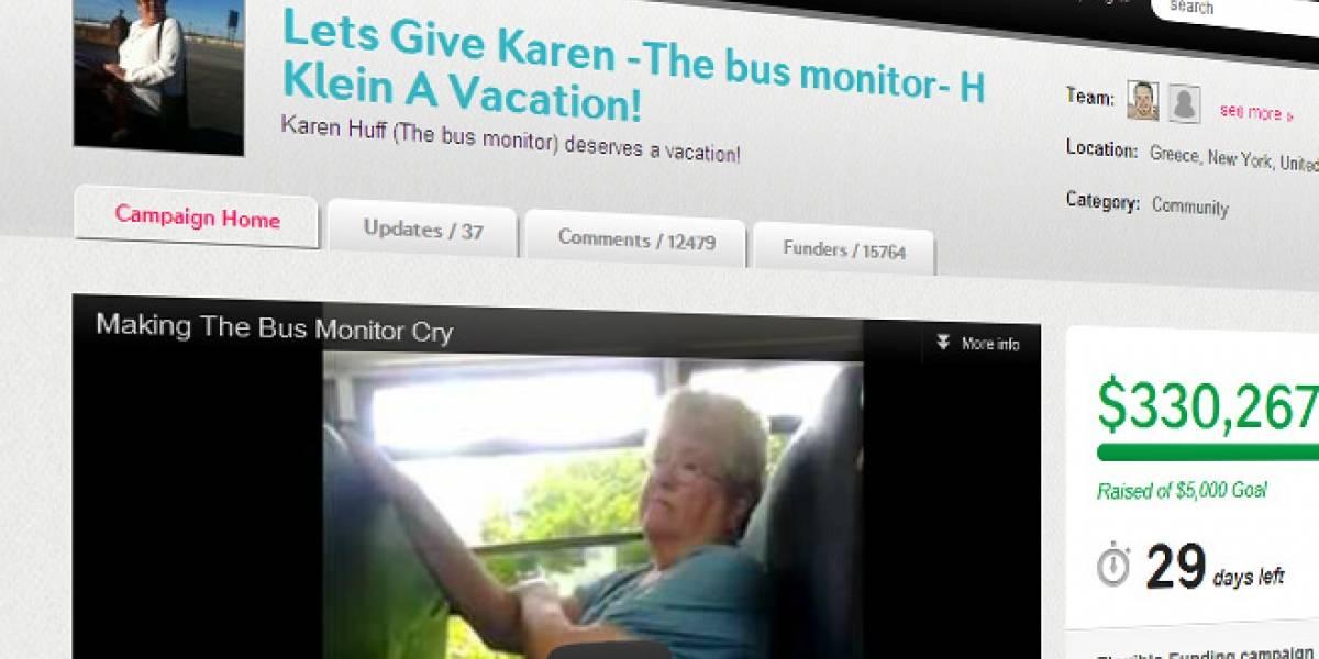 Colecta para Karen Klein, la señora del bus, ya lleva más de USD$330.000 recaudados