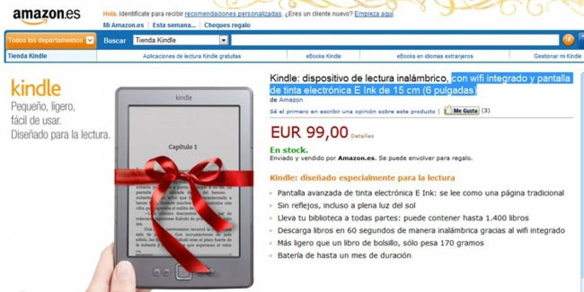 El Kindle ya está en España