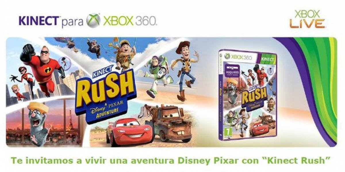 Xbox España te invita a vivir una aventura Disney Pixar con Kinect Rush