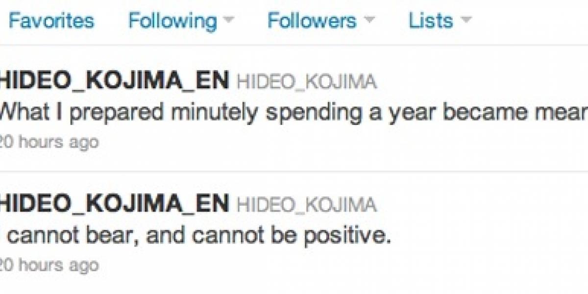Un Kojima pesimista se desahoga en Twitter ¿se cancela algún proyecto?