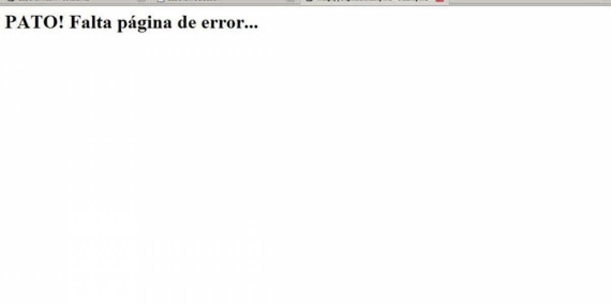 Laborum: PATO! Falta página de error...