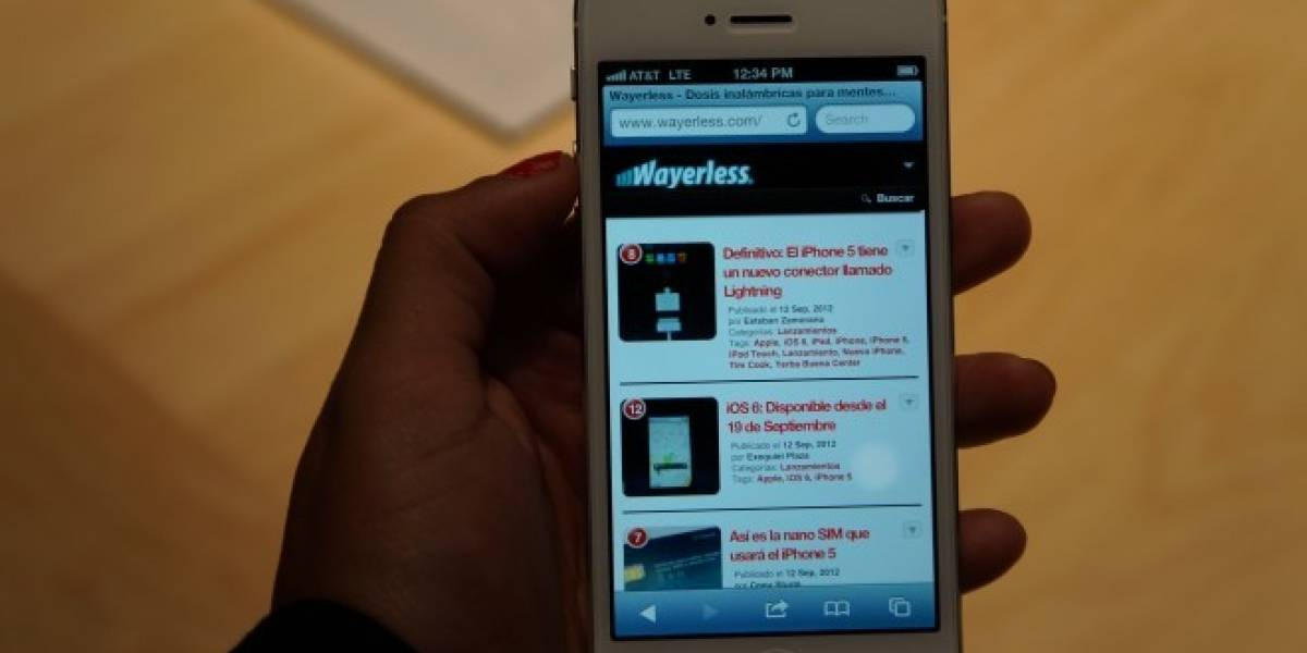 iPhone 5 a primera vista [W Labs]