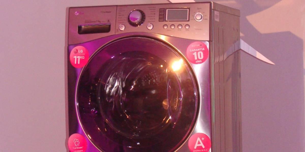 LG nos presentó su lavadora que 'habla'