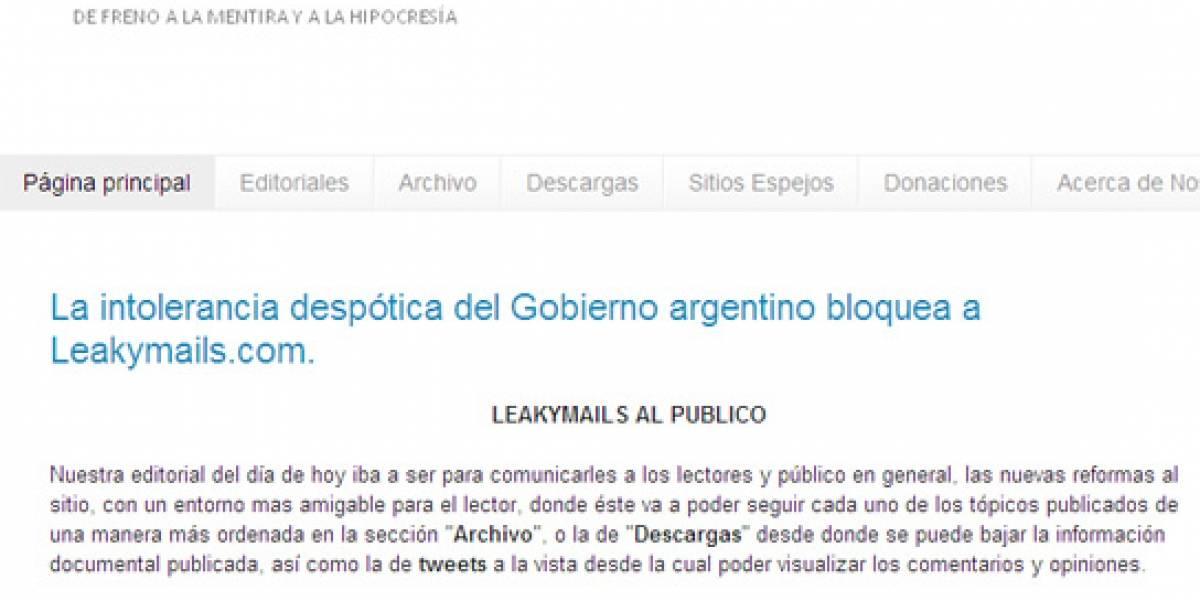 Argentina: Corte ordena bloquear sitio que publica mails de funcionarios del gobierno