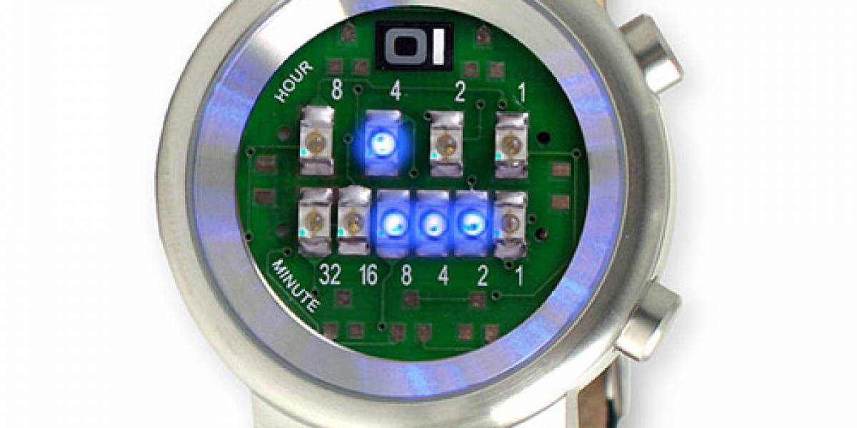 Reloj LED binario sólo para geeks orgullosos