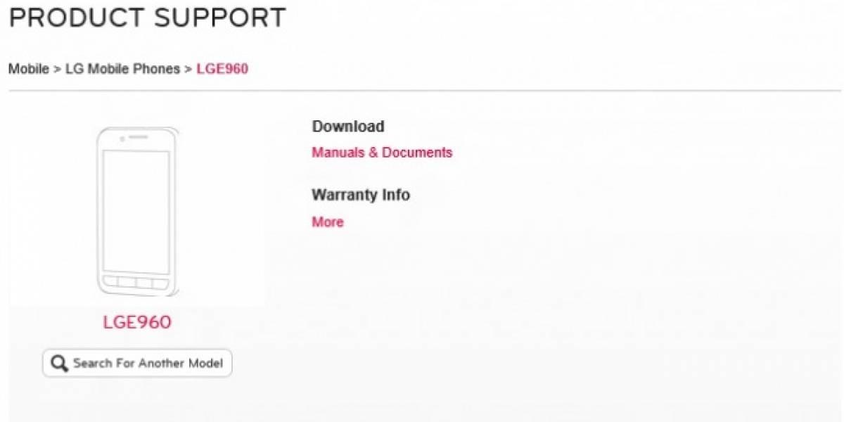 LG sube las páginas de soporte para el Nexus 4