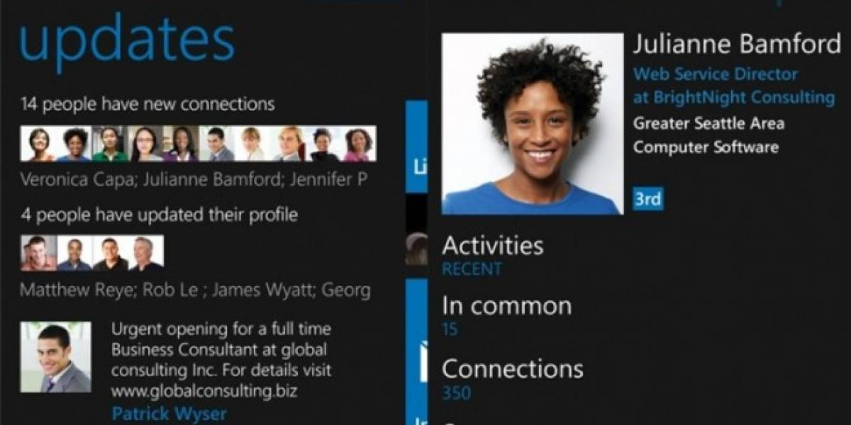 Llega LinkedIn para Windows Phone