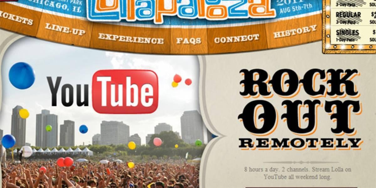 YouTube transmitirá Lollapalooza en vivo desde hoy