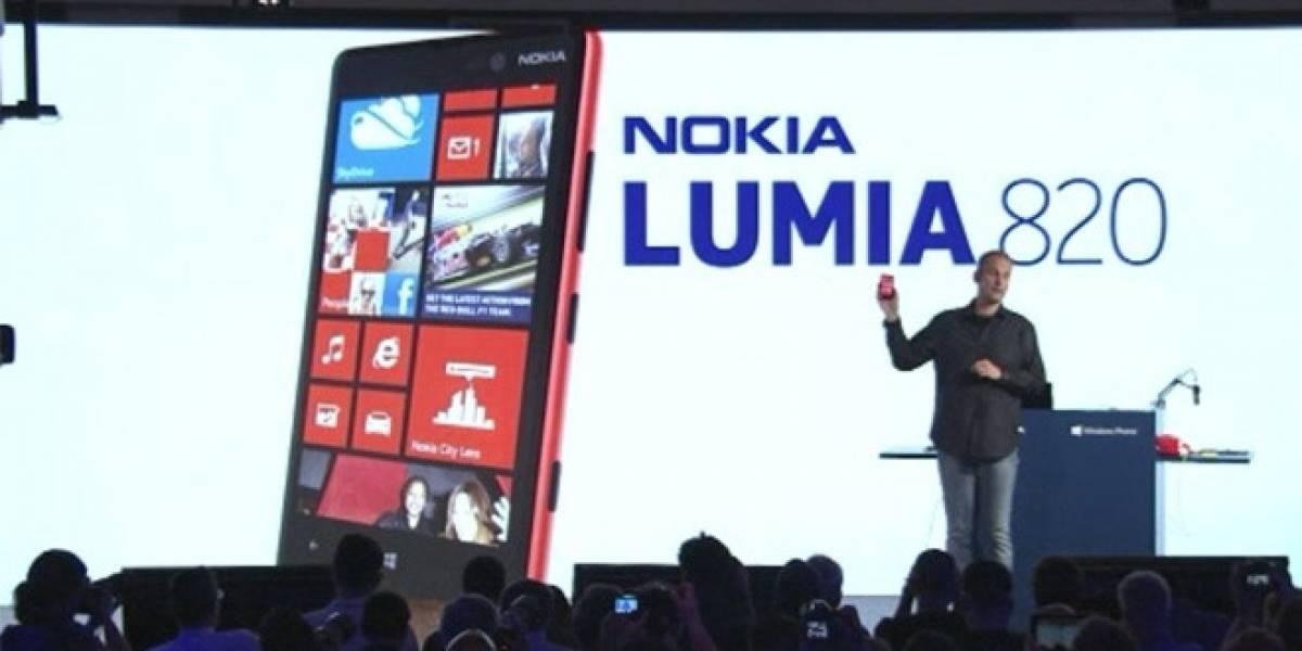 Nokia estrena el Lumia 820, su equipo de gama media con Windows Phone 8