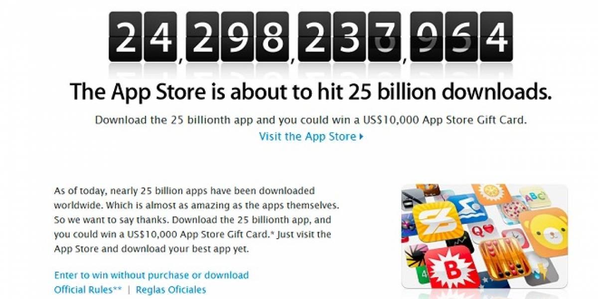 Apple lanza promoción de las 25 mil millones de apps
