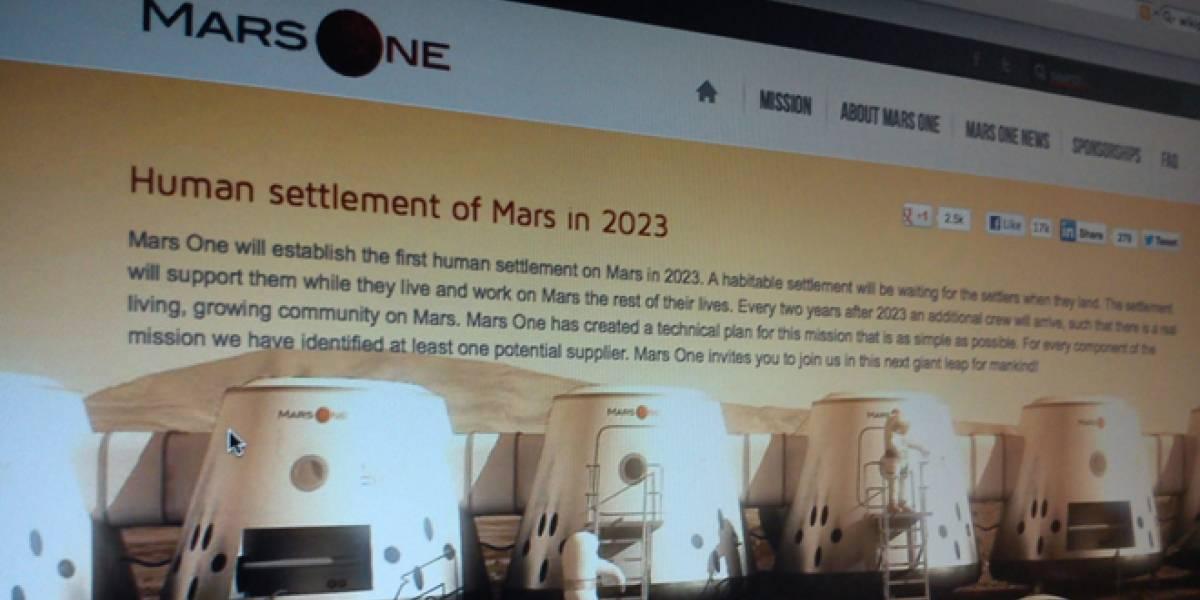 Reality Show sobre un viaje a Marte no es broma