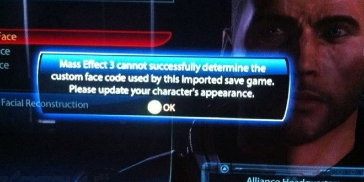 Reportan problemas para importar la apariencia de Shepard en Mass Effect 3