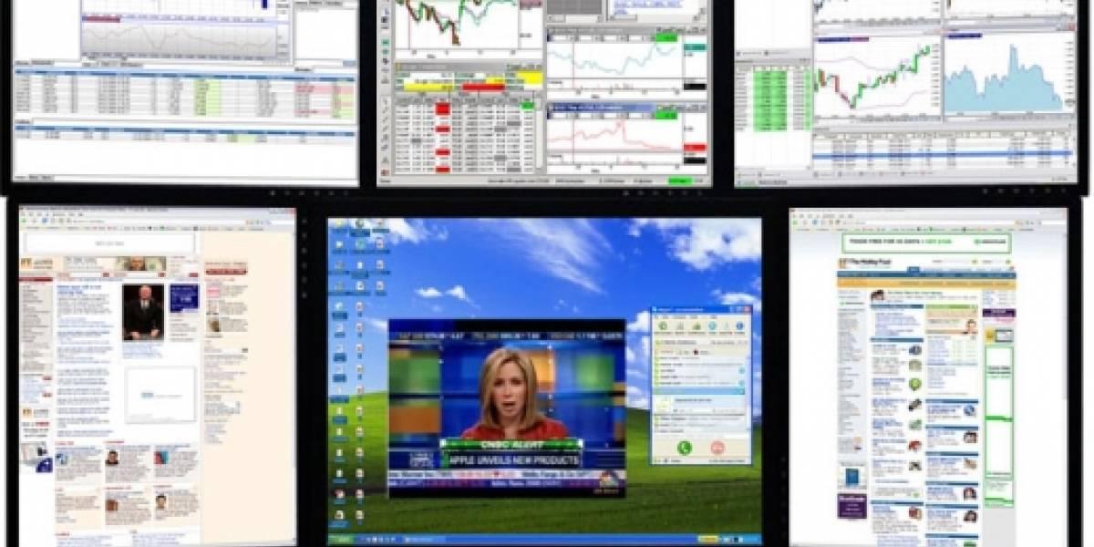 CineMassive MasterPlex 21T: 6 pantallas en tu escritorio