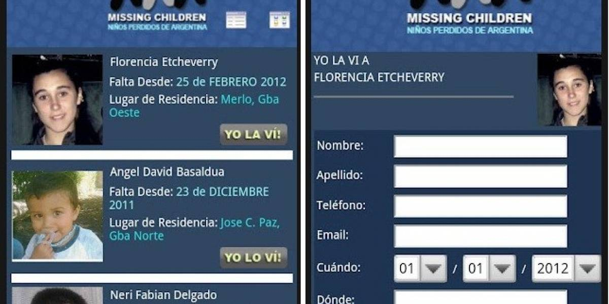 Argentina: Missing Children lanza aplicación para iPhone y Android