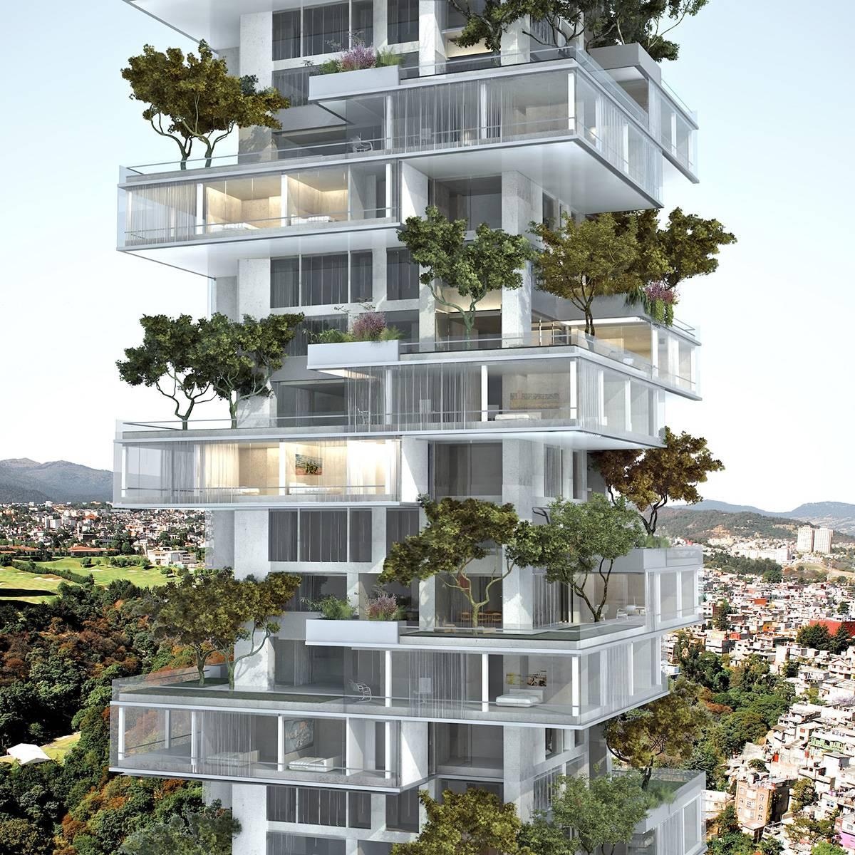 Landscape Design Outdoor Construction Residential: Una Torre Verde Para Ciudad De México