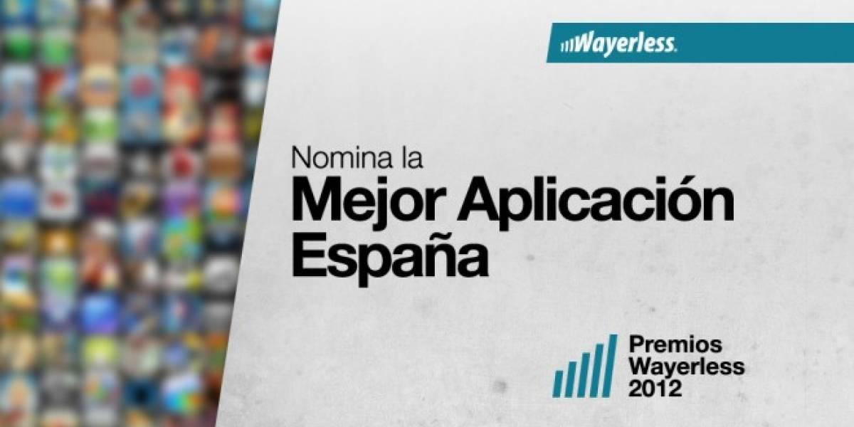 Nomina a la Mejor Aplicación España 2012