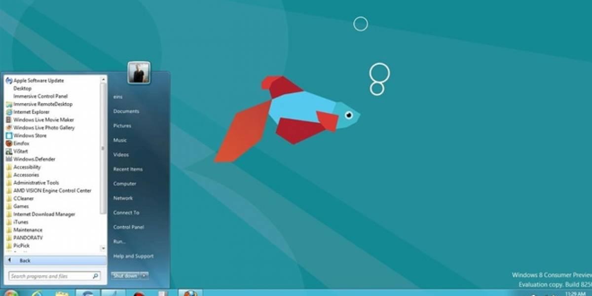 Microsoft estaría trabajando para bloquear apps que reviven el botón de inicio en Windows 8