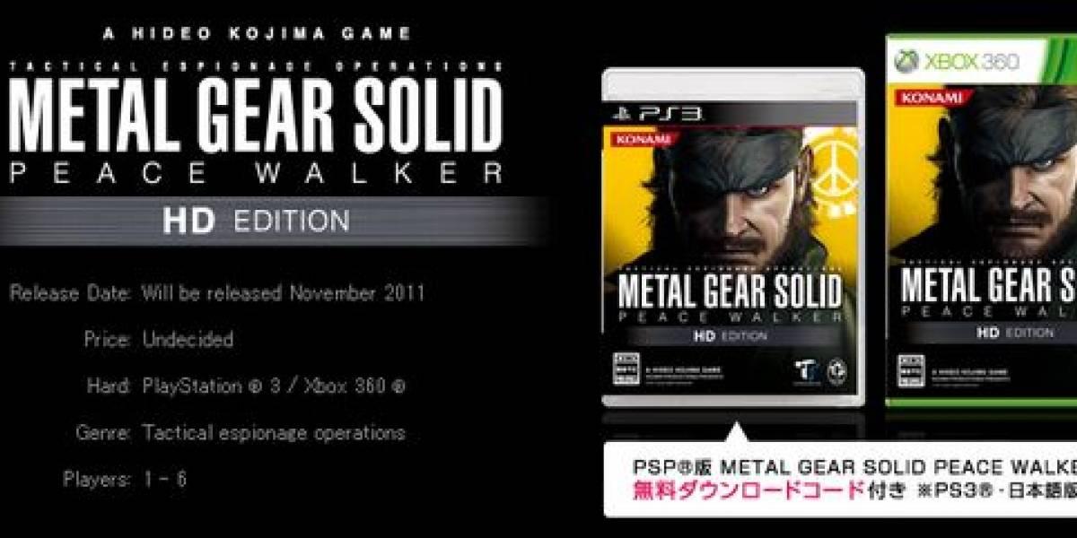 MGS HD Collection con multijugador, disponible vía descarga y más