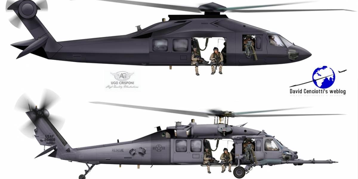 """Este sería el misterioso helicóptero furtivo utilizado en la operación """"Gerónimo"""""""