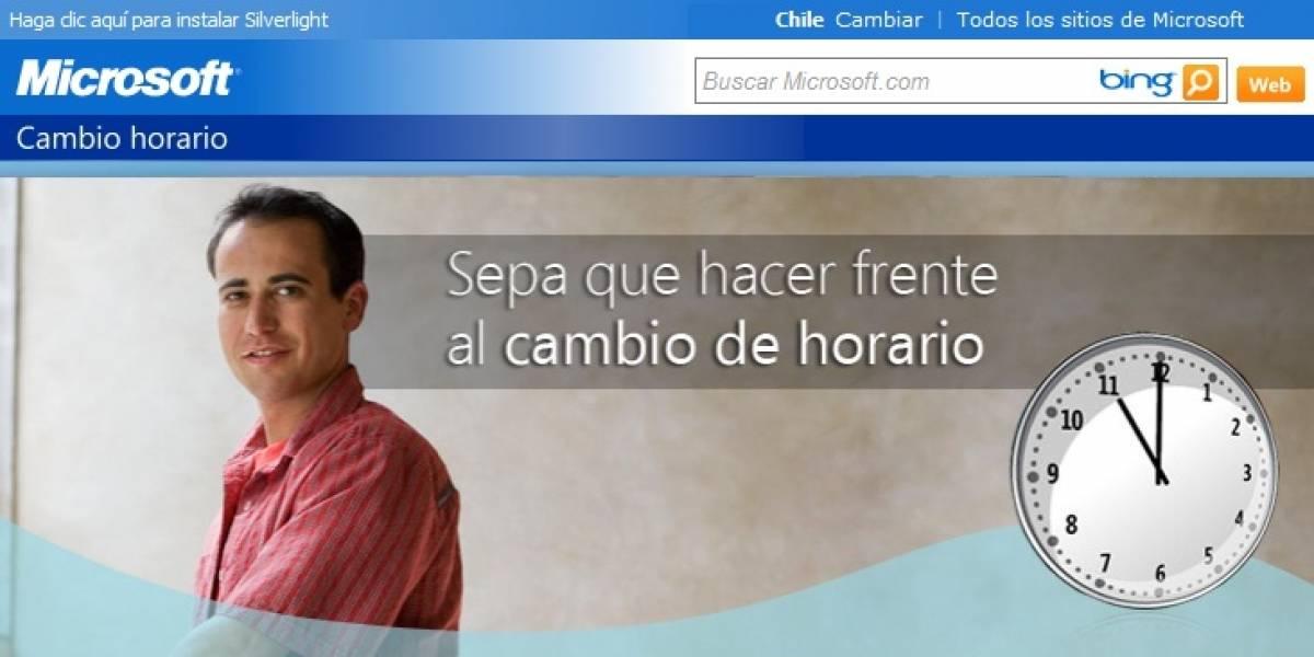 Chile: Microsoft lanza parche para actualizar Windows ante nuevos cambios de horario