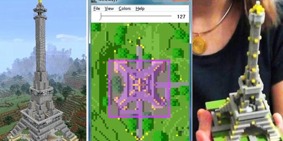 Traslada tus creaciones de Minecraft a la realidad