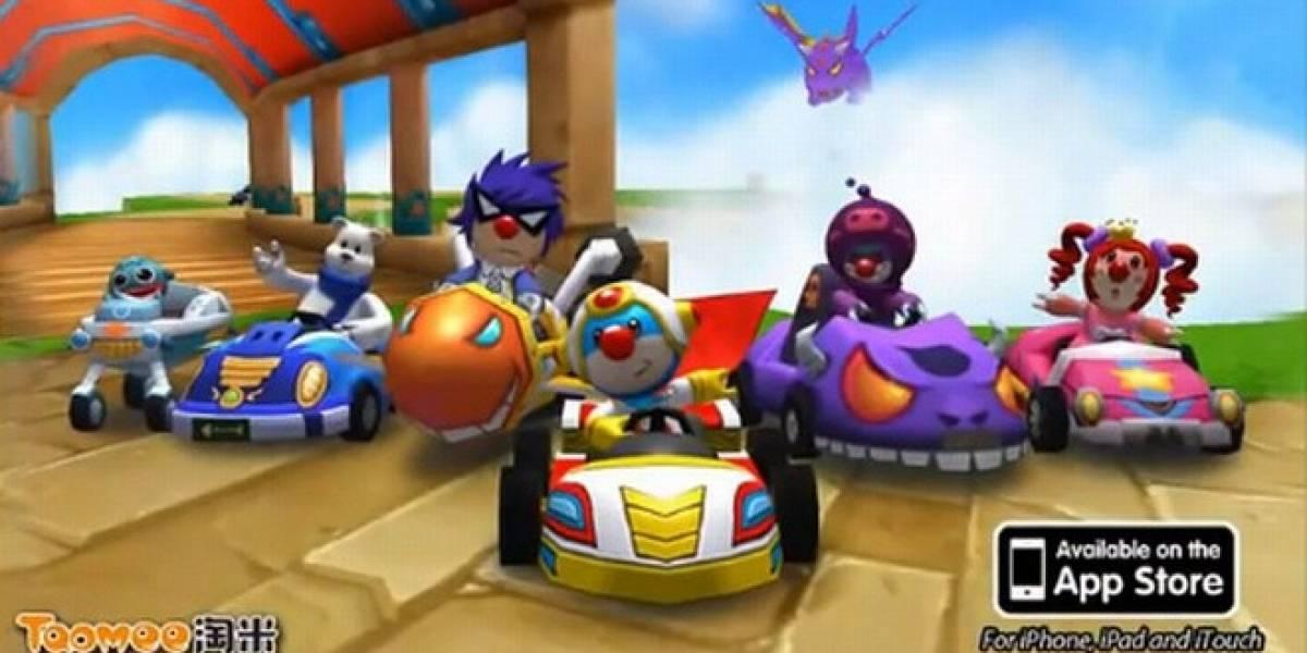 Mole Kart es Mario Kart con letras chinas