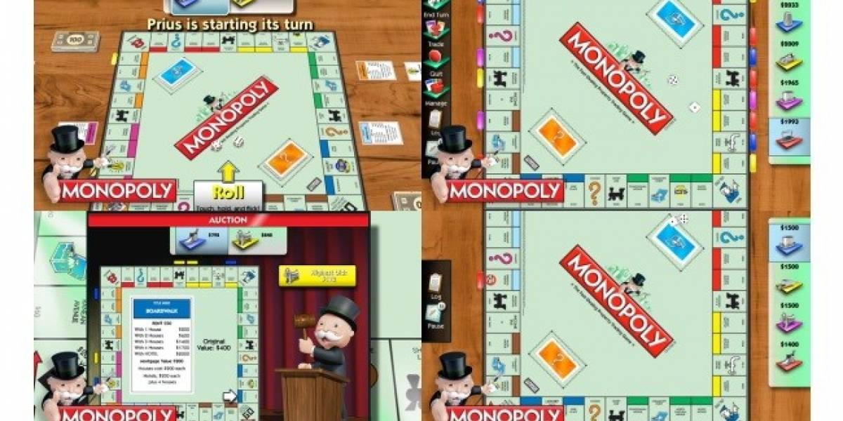Juego Monopoly disponible para el BlackBerry PlayBook