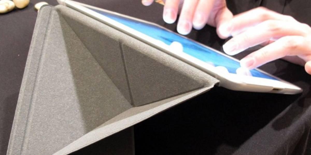 Una cubierta de iPad que se dobla tipo origami